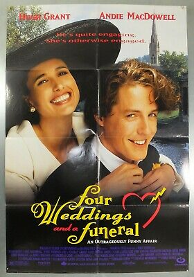 Four Weddings And A Funeral - Hugh Grant - Original American 1Sht Movie Poster
