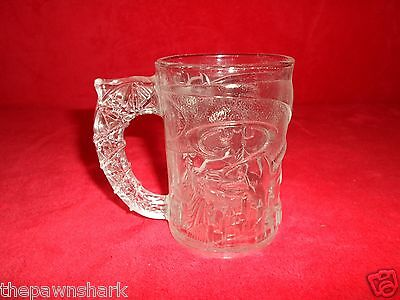 "VINTAGE McDONALD'S 1995 ""BATMAN FOREVER"" TEXTURED GLASS MUG"