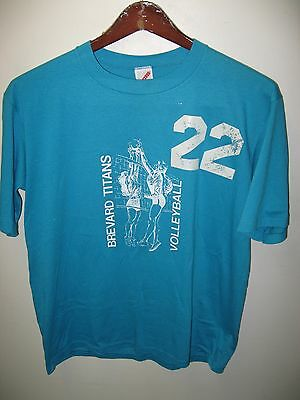 Brevard Community College Tee - Cocoa FL Vintage 1980's Volleyball T Shirt L/XL