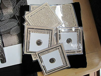 1 -Ancient Bronze  Roman Bible Coins of the Magi '3-Wisemen'  mini-album and COA