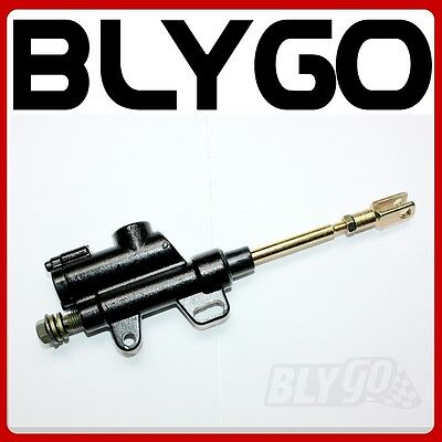 BLACK 8mm Banjo Back Rear Hydraulic Brake Master Cylinder PITPRO Trail Dirt Bike