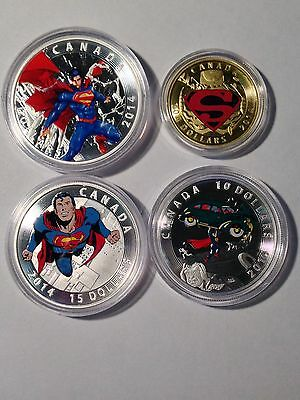 "The Complete Set 2014 RCM ""Iconic Superman™ Comic Book Covers""Gold & Silve Coins"