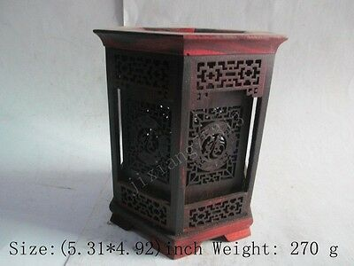 13.5 cm */ The ancient Chinese collection good wood pen container