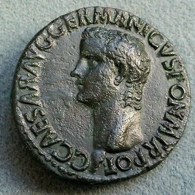 VERY RARE! Superb quality! AS of Caligula - 28mm; 10.93gr; Ancient Roman Coin