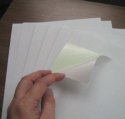 A4 Sticker Paper White Matt 10 Sheets Self Adhesive New Blank Laser Inkjet Print