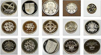 Various £1 One Pound Brilliant Uncirculated UNC Coins 1983-2019