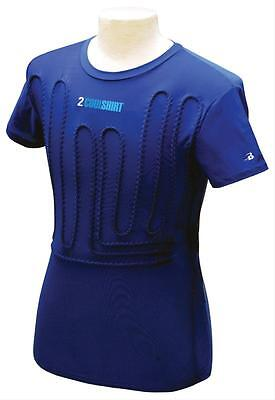 Personal Cooling Shirt-2 Cool-Blue-Large-Item# Cst2Cw-L