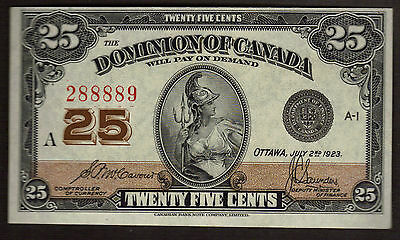 Canada 1923 DOMINION OF CANADA  25 Cents McCavour-Saunders  DC-24c 28889 UNC