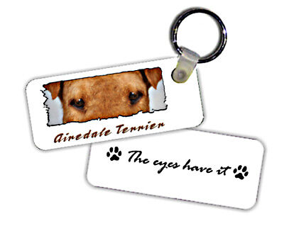 """Airdale  Terrier   """" The Eyes Have It  """"  Key  Chain"""