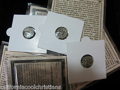 1 - PREMIUM GRADE SILVER Ancient Roman Bible Coins of the Magi mini-album  JESUS