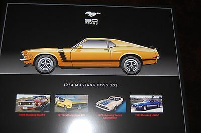 """MUSTANG POSTERS  50 YEARS SET of  (8) BRAND NEW! 8.5""""x11"""" INCHES EACH"""