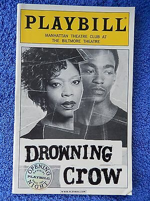 Drowning Crow - Biltmore Theatre Playbill - Opening Night - February 2004