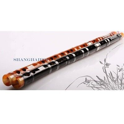 Bamboo Flute Dizi Acoustic Instrument Oriental Professional C-G Key 2 Sections