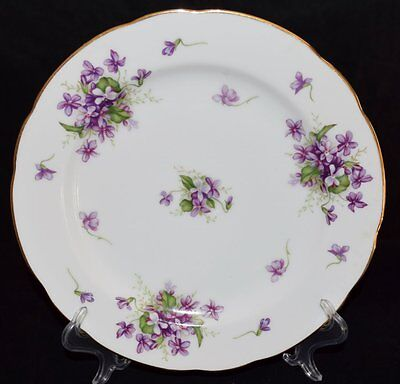"""Rossetti, Spring Violets pattern, hand painted, bread and butter plate, 6"""""""