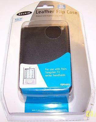 NEW Belkin Leather Flip Case for Palm Tungsten T3 PDA Handheld PalmOne F8P0401