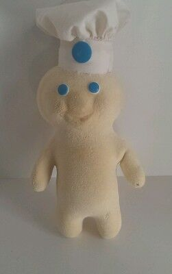 """1972 Pillsbury Doughboy Terry Cloth Soft Squeezable 12"""" Doll RARE find"""