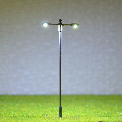 15 pcs HO Scale SMD LEDs made Model Lampposts height adjustable Long life #SD75D