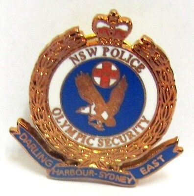 Bronze Darling Harbour Police Security Sydney Olympic Games 2000 Pin Badge #434