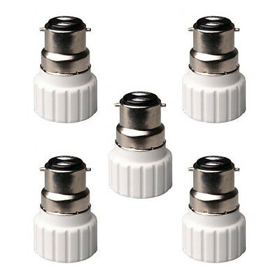 B22 to GU10 Lamp Light Bulb Base Socket Converter Adaptor 5 pack AA