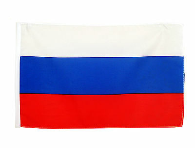 Stockflagge Russland 30x45 cm ohne Stock russische  National Stockfahne