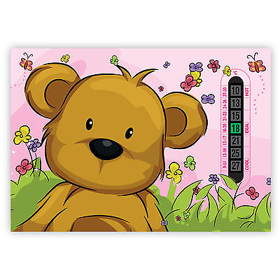 A5 Nursery, Baby and Childrens Pink Teddy Bear Room Thermometers