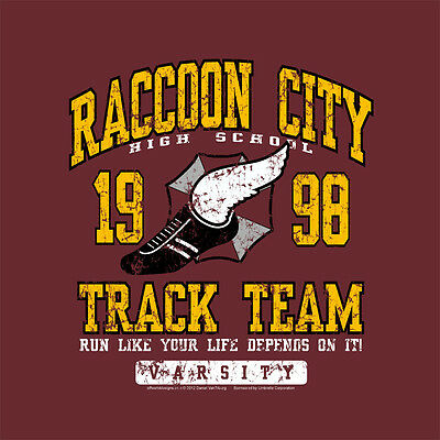 T-Shirt Raccoon City Track Team Video Console PC Gamers OffWorld Designs