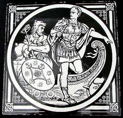 "MINTONS CHINA WORKS STOKE ON TRENT 6"" TILE ~ THE ROMANS~"