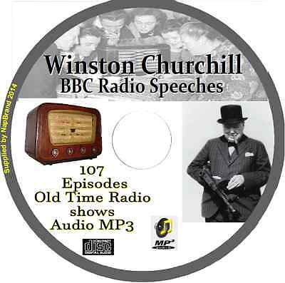 Winston Churchill 107 BBC World War 2 Speeches OTR Old Time Radio Audio MP3 CD