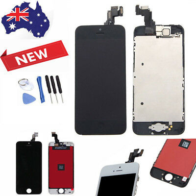 iPhone 5c LCD Screen Digitizer Assembly Replacement with Home Button + Camera