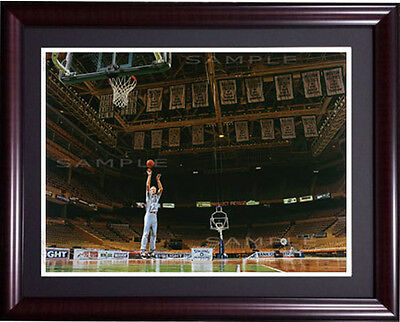 Larry Bird Bill Purdom signed Framed Lithograph  Boston garden  Celtics LE /1000