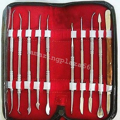 Stainless Steel Lab Kit Wax Carving Tool Set Instrument Styles High Grade Dental