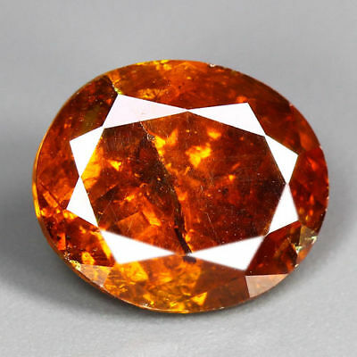 8.88 Cts-Breathtaking Fire - Sun Set Reddish Orange - 100 % Natural Sphalerite