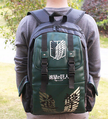 attack on titan green wings double-breasted backpack shoulder bag bags new