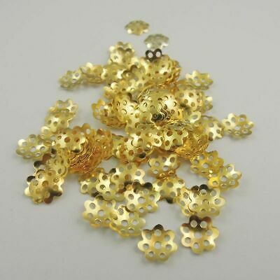 Wholesale 700pcs Gold Plated Silver Plated Bead Caps Jewelry Making 5.5mm