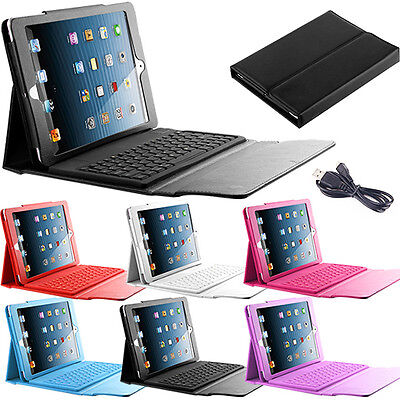Cover Stand Leather Wireless For Apple New iPad Bluetooth Keyboard 2 3 4 Case