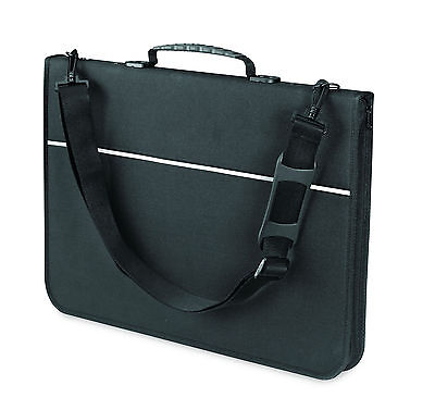 Mapac Quartz Portfolio A2 Storage Case Polypropylene Black 43x60cm High Quality