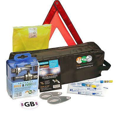 European EU Euro Travel Kit Legal & Recommended Items For Driving In France