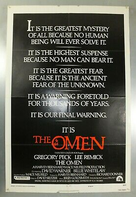 The Omen - Gregory Peck / Lee Remick - Original American One Sheet Movie Poster