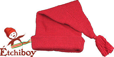 Voyageur red  tuque toque hat real alpaca wool FREE SHIPPING CANADA & USA