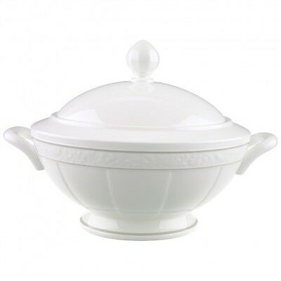 Villeroy Boch Cameo White Weiss Covered Soup Tureen Brand New