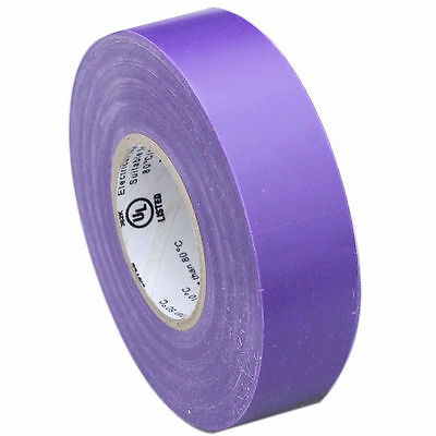 """10pc Set  Electrical Tape 3/4"""" inch x 50' ft Professional Rubber Splicing Purple"""
