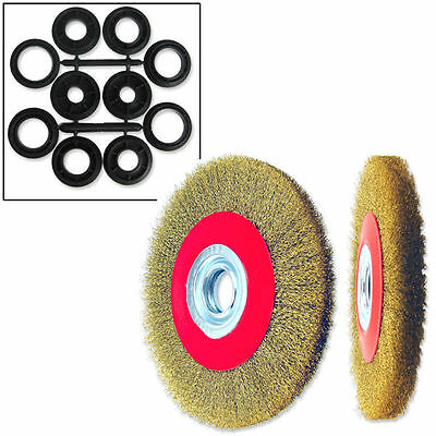 "1pc  6"" Crimped Wire Brush, Wide Face for Bench & Angle Grinder Polishing"