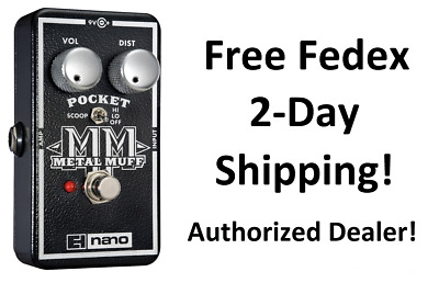 New Electro-Harmonix EHX Pocket Metal Muff Distortion w/ Mid Scoop Effects Pedal