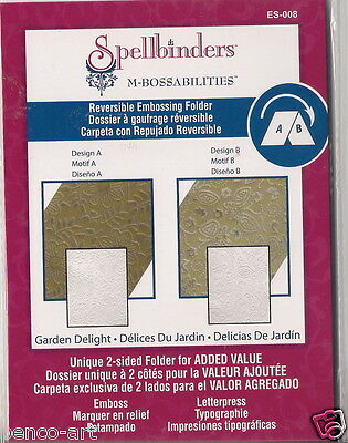 Spellbinders M-Bossabilities Reversible Embossing Folder Garden Delight ES-008