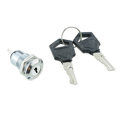 On/Off Metal Security Key Switch Lock + Keys 2 Position SPST 12V