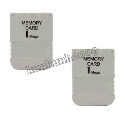 2 Schede Memoria Memory Card 1Mb 1 Mb Per Playstation 1 One Ps1 Psx Game System