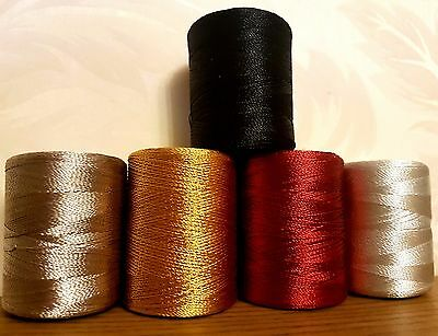 Large Silk Rayon Embroidery Machine Thread Strong Spools Solid basic Colors x 4