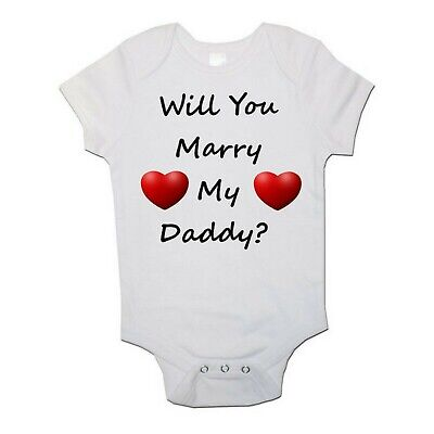 Marry My Daddy Funny Personalised Baby/Toddler Vest Newborn Gift - Bodysuit/Grow