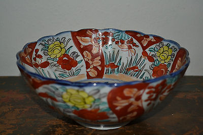 Antique late 19th century Chinese porcelain bowl with lovely decoration, c 1890