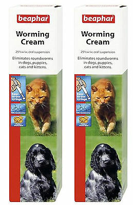 Beaphar Worming Syrup Worming Cream Dogs Puppy Dewormer Roundworm Treatment Pups